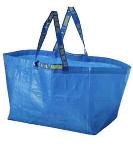3 New IKEA BLUE BAG REUSABLE TOTE STORAGE FRAKTA 19 Gal