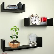 Floating Shelves Wall Mount Living Room Accessories Decor Espresso Set Of 3 New
