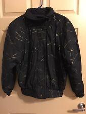 skea Paris/Vail Ladies Faux Suede Jacket Black Size 4 Zip Snap Collared