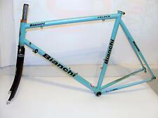 ~ Nice Vintage BIANCHI Veloce Frameset 56cm Cromo Lite Frame & Carbon Fork ~
