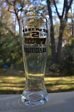 """Jeff Foxworthy Pilsner Beer Glass """"Guns Have 2 Enemies: Rust and Politicians"""""""