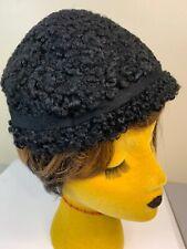 Vintage 40s 50s Curly Lamb Hat