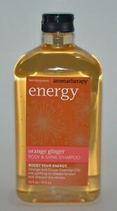 1 NEW BATH & BODY WORKS AROMATHERAPY ENERGY ORANGE GINGER SHINE SHAMPOO 16OZ