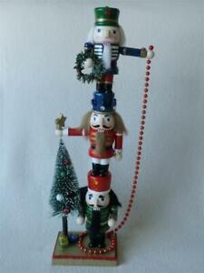 "Christmas Wooden Nutcracker Tower Decoration (18"" Tall)"
