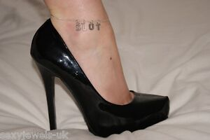 Sexy Premium Anklet Ankle Chain Jewellery 'SLUT' Hotwife Fetish Jewelery Fun