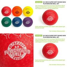 "Champion Sports Playground Ball Set: Six Large Rhino Skin Assorted (8.5"" Set)"