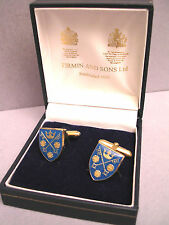 SET OF COLLECTABLE ENAMELLED CUFFLINKS GOLD BY : FIRMIN AND SONS LTD.,