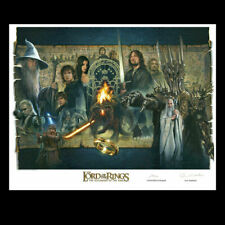 Lotr Weta Fellowship of the Ring Lithograph by VanderStelt 1096/2000 Signed