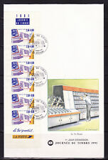 enveloppe 1er jour  journée du timbre  bande carnet  Orléans ; 1991