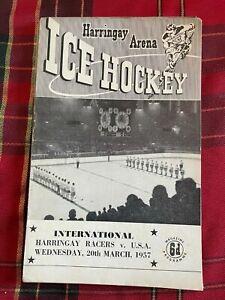 Harringay Arena Ice Hockey Programme 20/03/1957