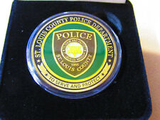 ST LOUIS COUNTY POLICE Challenge Coin w/ Presentation Box
