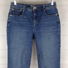 Style & Co Tummy Control Petite Womens 4 Short Stretch Medium Wash Slim Jeans