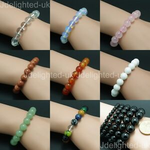 Natural Mixed Gemstone 6mm Round Beads Handmade Stretchy Bracelet Healing Reiki