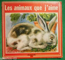LES ANIMAUX QUE J'AIME  1974 ALBUM TOURET