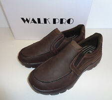 Walk Pro David Superlite Classic Casual Comfy Memory Foam Trainers Brown UK 8 - EU 42