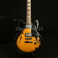 Semi Hollow Body 339 Electric Guitar VS Color Grover Tuner BackTop Flamed Maple