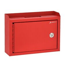 "AdirOffice Red Steel Suggestion Key Drop Box with Locking Top 9.75"" x 7"" x 3"""
