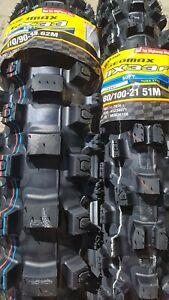 Dunlop Reifen Satz Mx33 100/90-19 + 80/100/21 Motocross Matsch Schlamm softcross