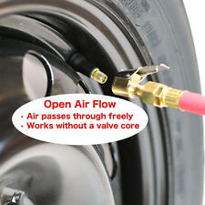 2Packs Metal Tire Inflator Open Flow Straight Lock-On Air Chuck with Clip US