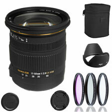 Sigma 17-50mm f/2.8 EX DC OS HSM Lens for Canon EF + Filters , case , hood , cap