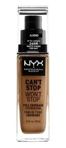 NYX Can't Stop Won't Stop Full Coverage Foundation-CSWSF15.3 Almond 30ml/1oz