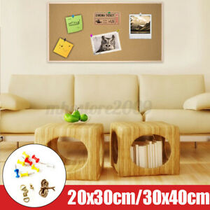 Cork Pin Message Notice Wood Board For Home Office Shop Memo School  @ % c