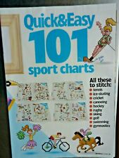 2777]X Stitch Chart-101 Sports Motifs, Cycling Cheer Leading Football
