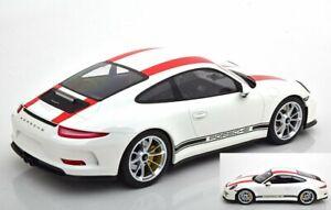 Porsche 911 991R Blanco Rojo Rayas 1:12 Minichamps Diecast Nuevo Emb. Orig.
