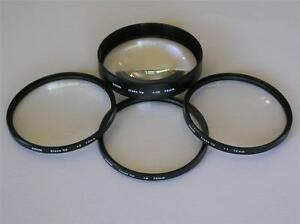 KOOD 72MM CLOSE-UP LENS SET OF 4 + CASE +1 +2 +4 +10 DIOPTER CLOSE UP LENSES