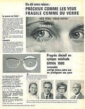 PUBLICITE ADVERTISING 114  1961  ORMA 1000  les verres progressifs
