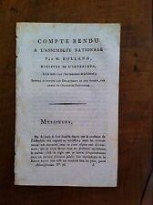 ROLAND DE LA PLATIÈRE - 1792 - Compte Rendu Assemblée Nationale. ORIGINALE
