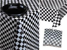 Llanura de Fiesta Negrocelebración de plástico cubre MesaMantel 1-5pk