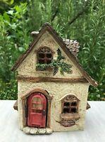 Miniature Dollhouse FAIRY GARDEN ~ Fairy Villa Cottage House with Hinged Door