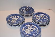 "Vintage Occupied Japan Blue Willow 6"" Saucers"