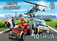 PERSONALISED LEGO CITY POLICE BIRTHDAY ANY OCCASION CARD