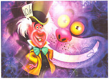 MAD HATTER & CHESHIRE CAT - ALICE IN WONDERLAND BLOTTER ART  BY RICHARD WILLIAMS