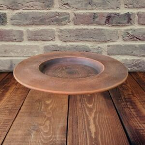 Ceramic plate. Pottery Clay handmade from red Clay. Ecologically Clean Products