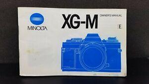 ORIGINAL Minolta XG-M camera Owner's Operating Manual Instructions guidebook