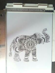 A4 Wall Stencil Reusable TemplateMandala Elephant Home Decor Mask Scrapbook #3