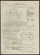 Plan ancien d'une usine hydro-électrique, Svaelgfos, Notodden, Norvège. 1909