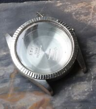 Vintage Technos 20ATM 1960s steel waterproof divers watch case with fluted bezel