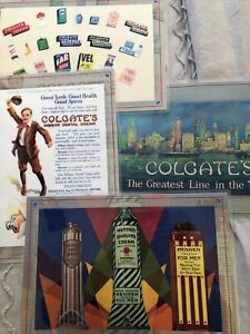 Four Vintage Advertising Laminated Placemats