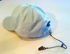 Adjustable CAP RETAINER / HAT CLIP - Clip to Collar / Backpack - Sailing/Jogging