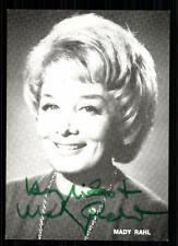 Mady Rahl (+)  Autogrammkarte Original Signiert TOP ## BC 344