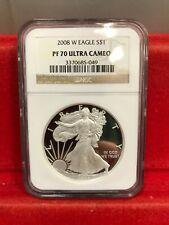 2008-W 1oz Proof American Silver Eagle NGC PF 70 Ultra Cameo