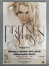 Britney Spears 2011 Zurich + + Orig. Concert Poster -- CONCERT Affiche NEUF