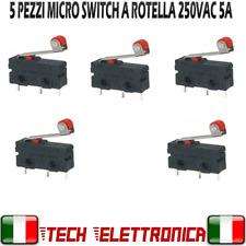 5 pezzi micro switch 5A 250Vac con leva a rotella interruttore di finecorsa