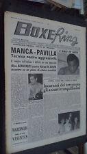 BOXE RING N.39 1964 - MANCA PAVILLA - BENVENUTI DE SOUZA - MAZZINGHI VISINTIN