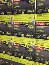 BRAND NEW Ryobi P1811 ONE+ 18V Lithium-Ion Drill/Driver Kit With 2 Batteries