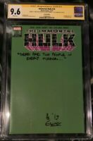 Immortal HULK 25 1:200 Green Variant SS CGC 9.6 NM+ Signed by Al Ewing
